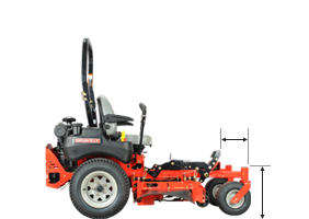 Gravely ProTurn deck reach measurements
